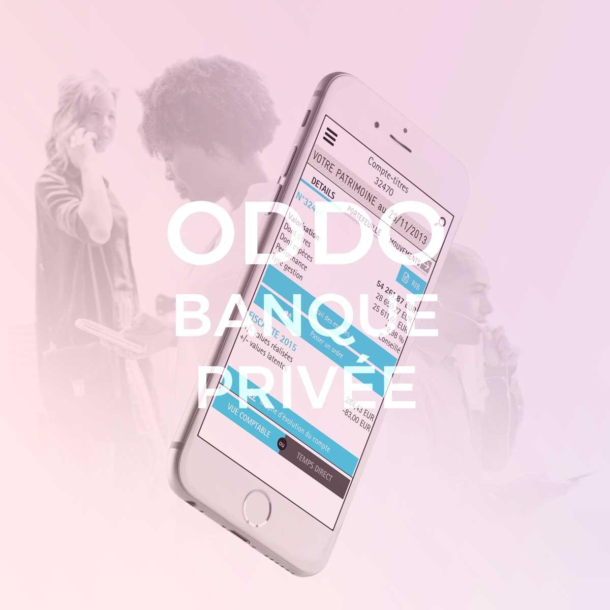 InfleXsys Oddo Banque Privée Application mobile Métier de bourse et banque en ligne Mobile banking