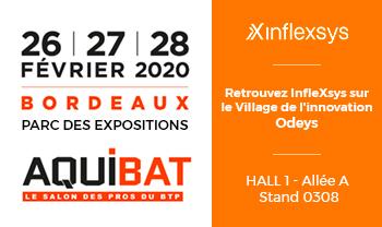 InfleXsys participe à Aquibat 2020, le salon des Pros du BTP à Bordeaux
