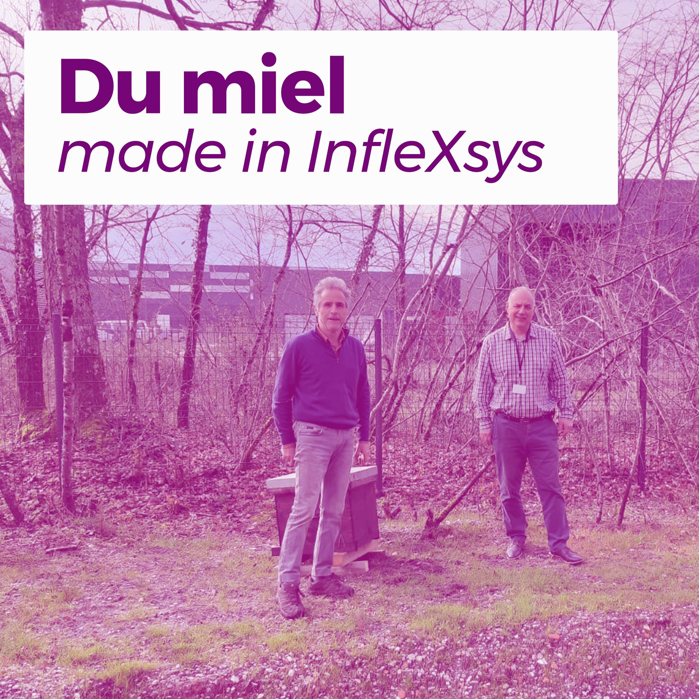 Claude Bodin, apiculteur à l'association Miellerie Collective de Bordeaux Métropole, et Olivier Blanc, président d'InfleXsys