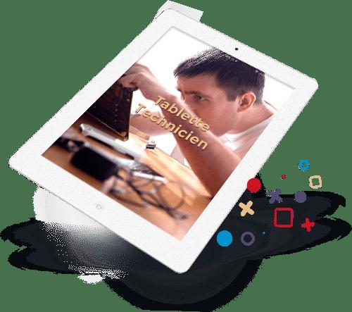 relation client digitale tablette technicien